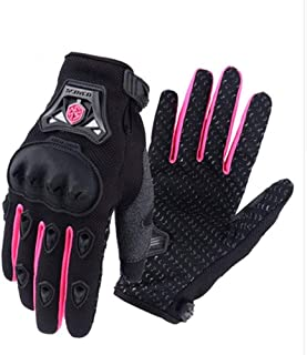 Motorcycle Gloves - Electric Bicycle Knuckle Gloves, Motorcycle Gloves Ladies Summer,Cycling Gloves, Leather Touch Screen ...