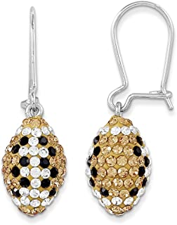 Spirit by Chelsea Taylor Sterling Silver Swarovski Elements New Orleans Spirit Football Earrings One Size