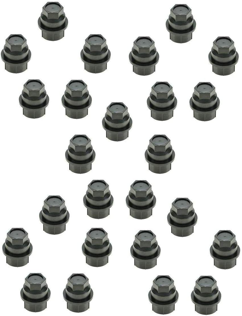 Black Lug Manufacturer OFFicial shop Nut Cap Cover Set of with Compatible Free shipping anywhere in the nation 25 GMC Chevy Cadi