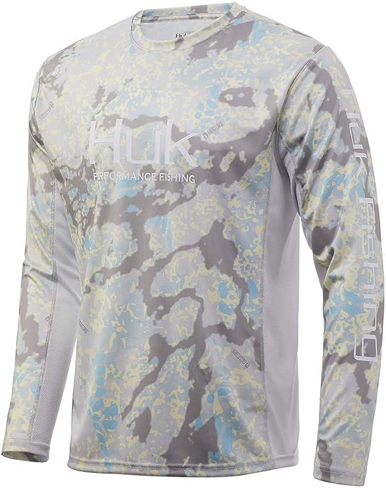 Huk Men's Phoenix Mall Icon X Camo Long Sleeve shopping Fishing Shirt Kry Performance