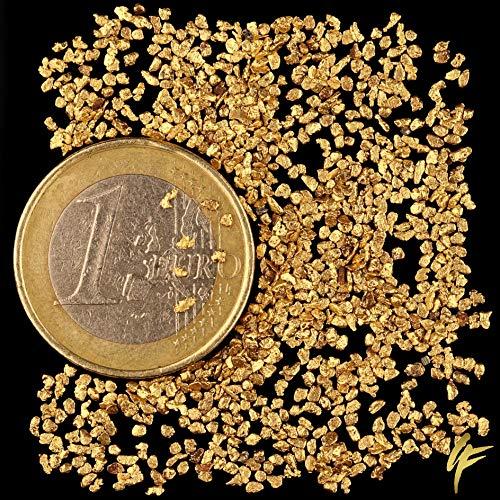 1 Gramm echte Goldnuggets mit 20-23 Karat aus Alaska inkl. Echtheitszertifikat. TOP-Wertanlage seltener wie Goldbarren ! Wertiges Geschenk für alle Anlässe. Größe je Nugget ca. 1-2 mm