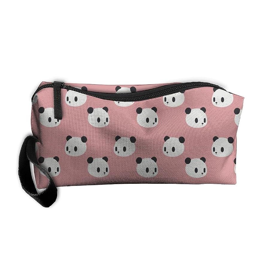 ErmiCO ペンポーチ ペンケース 筆箱 レディース メンズ カジュアル 化粧ポーチ 小物入り 多機能バッグ 贈り物 パンダパターン