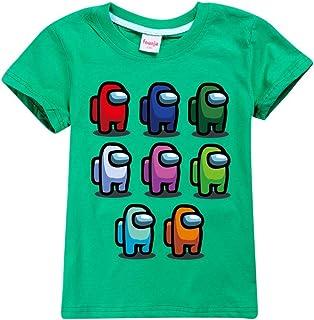 JDSWAN Unisex Niños Camiseta de Verano Impresión de Patrones Camiseta de Manga Corta Ropa Deportiva Casual Tops T-Shirt pa...