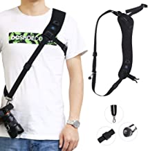 EANDE Quick Release Anti-Slip Soft Pad Nylon Breathable Curved Camera Strap with Metal Hook for SLR DSLR Cameras Durable