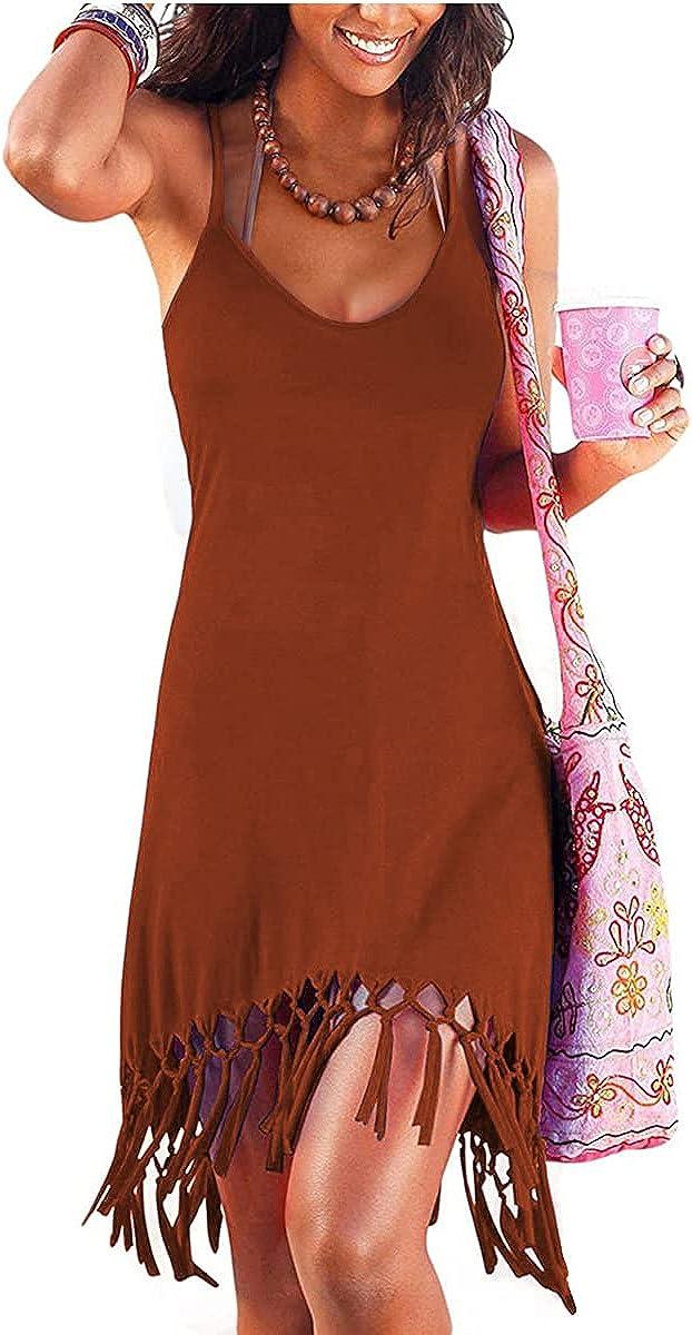 Women's Summer Vacation Beach Dress Swing Detroit Mall OFFicial Sundress Up Spag Cover