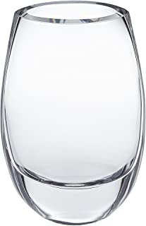 Badash - Crescendo European Mouth Blown Oval Glass Vase 7.5