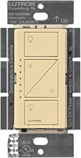 Lutron Caseta Smart Home Dimmer Switch, Works with Alexa, Apple HomeKit, and the Google Assistant | for LED Light Bulbs, Incandescent Bulbs and Halogen Bulbs | PD-6WCL-IV | Ivory