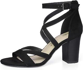 Allegra K Women's Crisscross Ankle Strap Sandals