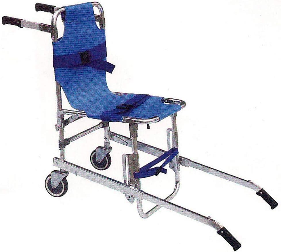 H&1 Silla de Ruedas eléctrica Silla de Ambulancia Plegable Ligera, Elevador de evacuación de Aluminio con 3 Correas Ajustables Hebillas de liberación rápida