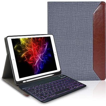 Funda con Teclado para iPad 10.2 2020 con retroiluminación, Funda de Piel Lachesis para Negocios con Teclado Bluetooth para iPad 8 /7th Gen/iPad Air 3 ...