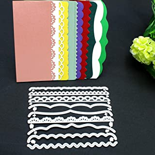 Metal Die Cuts Dies Cut Stencils for DIY Scrapbooking Photo Album Decorative Embossing Paper Dies for Card Making Template (9 Styles Borders)