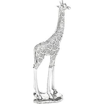 Giraffe Ornament Figure Silver Leaves Shudehill