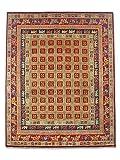 Pak - Alfombra Persa Chobi Hecha a Mano de Madera de pajiryryk, Lana, Rojo, 245 x 302 cm, 2,74 m x 2,28 m