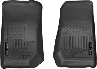 Husky Liners 53381 Black Floor Liners Second Seat Fits 17-19 Ford F-250//350//F450 Crew Cab with Factory Box