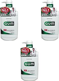GUM 【セット品】GUM(ガム)・デンタルリンス (レギュラータイプ) 960mL (医薬部外品) 3個 3個