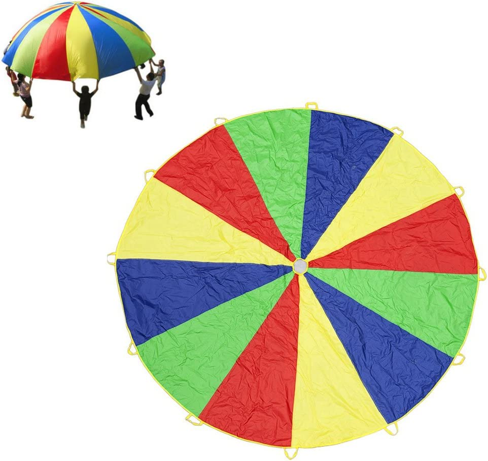 Suyi Rainbow Play Parachute 12 ft Stora Kids Limited time cheap sale Japan Maker New with for Handles