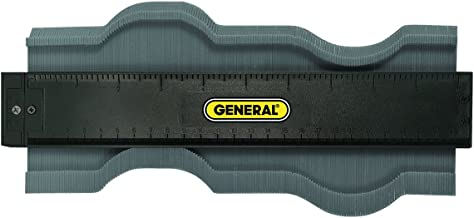 General Tools 833 Plastic Contour Gauge, Profile Gauge, Shape Duplicator, 10-Inch (254mm), Precisely Copy Irregular Shapes For Perfect Fit and Easy Cutting