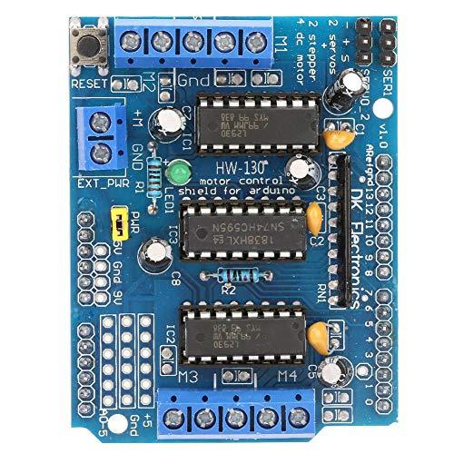 Shield Expansion Module, High Voltage High Current 4 H-Bridges High-resolution Motor Drive Shield Module, for Arduino
