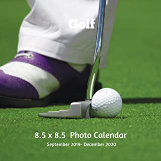 Golf 8.5 X 8.5 Photo Calendar September 2019 -December 2020: Monthly Calendar with U.S./UK/ Canadian/Christian/Jewish/Muslim Holidays-Golf Sports and Recreation