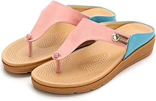 LUKEEXIN Slippers Ladies' Beach Sandals Lightweight Non-Slip Room Shoes Outdoor Thick Bottom