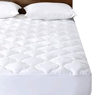 Basic Beyond Waterproof Quilted Mattress Pad (Full) - Hypoallergenic Soft Down Alternative Fill Mattress Protector, 15
