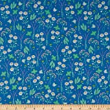 Windham My Cup Of Tea Garden Herbs & Flowers Blueberry Quilt Fabric By The Yard