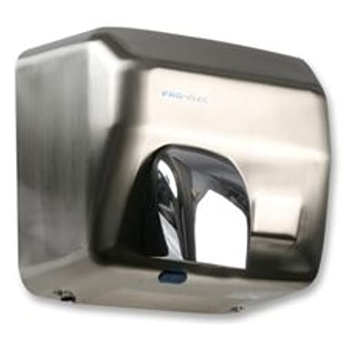 PRO ELEC  HEAVY DUTY AUTOMATIC HAND DRYER BRUSHED STEEL IN STOCK!!!