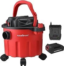 PowerSmart Wet Dry Vacuum, 20V 2.6 Gallons Cordless Wet Dry Vacuum, Portable Wet/Dry Dust Extractor/Vacuum with Blower, Mu...