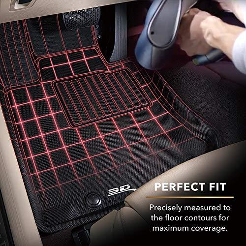 3D MAXpider All-Weather Floor Mats for Lexus LX/Toyota Land Cruiser 2008-2020 Custom Fit Car Floor Liners, Kagu Series (3rd Row, Black)