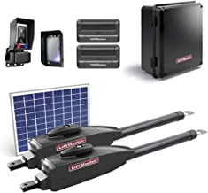 LiftMaster LA412PKGU / LA412PKGUL Dual Gate Opener Kit 2019 UL325 Compliant with 1 10 Watt Solar Panel, Two 811LM Remotes, Safety Photo-Eye & Free A Heavy Duty FAS Tape Measure (Part# FAS-TMPROMO18)