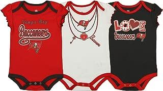 Outerstuff NFL Girls Newborn and Infant Assorted 3 Pack Creeper Set, Team Variation