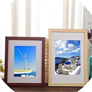 Multi Color Solid Wood Photo Frame Wall Wood Painting Factory Customized Photo Frame Wall Frame A3 A4 16,Natural Wood,12 inch