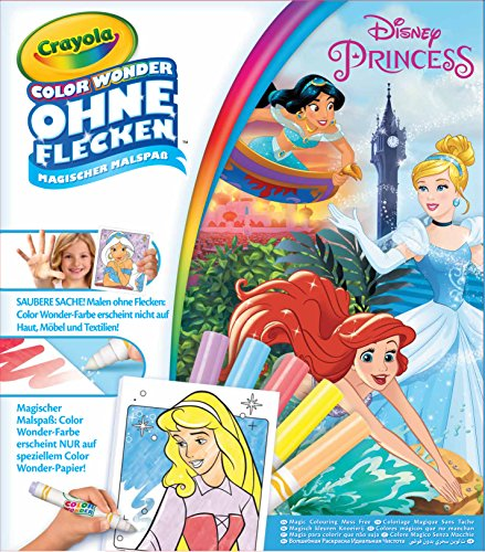 CRAYOLA 12785.4100 Prinzessinen Color Wonder - Disney Princess Malbuch, Bunt