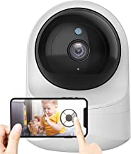 Baby Monitor, Wireless 1080P FHD Smart Home Baby Monitor with Camera and Audio Indoor Security Camera with Night Vision, M...