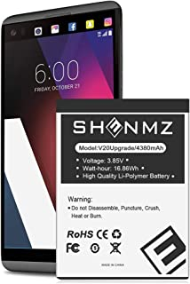 SHENMZ LG V20 Battery, Upgraded [4380mAh] Replacement Battery for LG BL-44E1F, LG V20 Extended Battery for LG H910 H918 V995 LS997 Phone | LG V20 Spare Battery [24 Months Warranty]