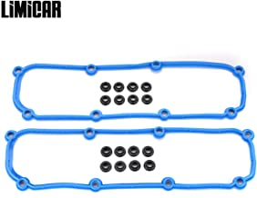 LIMICAR Engine Valve Cover Gasket Set VS50599R Compatible with 2005-2008 Chrysler Pacifica 2007-2009 Jeep Wrangler 2004-2010 Chrysler Town & Country 2004-2007 Dodge Grand Caravan 3.8L