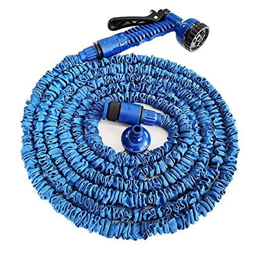 Telescopic Hose Car Wash Sprinkler Hose, Household Multifunctional Garden Garden Watering Hose Set Car Wash, Agricultural Watering,Blue,25FT