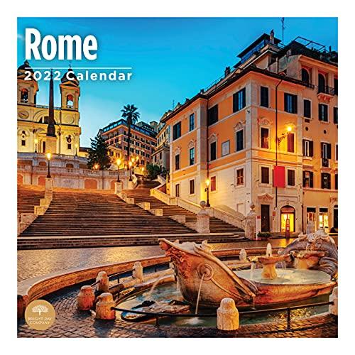 2022 Rome Wall Calendar by Bright Day, 12 x 12 Inch, European Travel Destination History