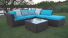 Amazon.com: Juego de muebles de exterior, de la marca Peach ...