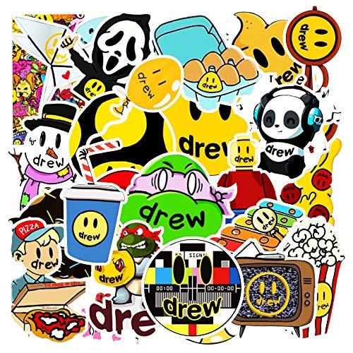 JZLMF 50 pegatinas de graffiti no repetitivas para coche, monopatín, nevera, ordenador, dibujos animados, impermeables