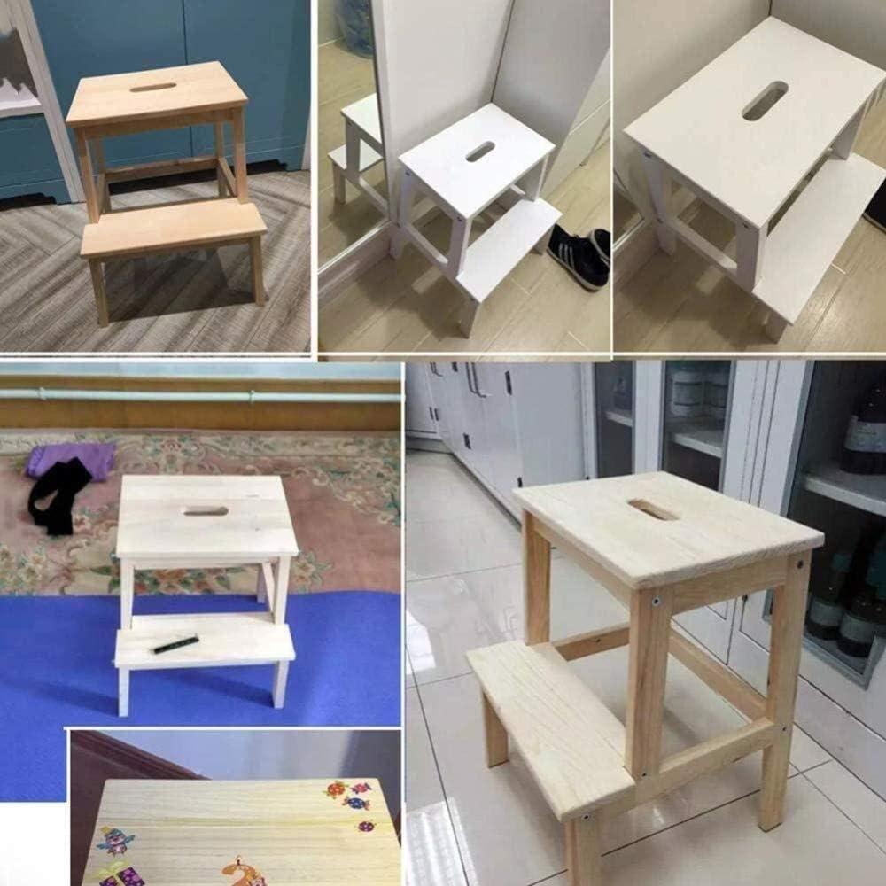 Escabeau Chaises Pliantes 2 étapes Tabouret intérieur escabeau Cuisine Ladders Pied Tabourets Banc Chaussures Portable/Flower Rack chaises Pliantes (Color : B) B