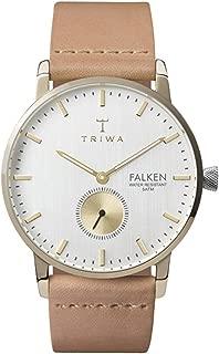 Triwa falken Unisex Analog Japanese quartz Watch with Leather bracelet FAST105CL