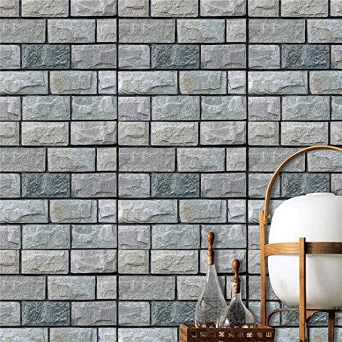 3D DIY azulejos pegatinas ladrillo piedra cerámica papel pintado en relieve reducción de ruido bebé Safy decoración de la pared 30x30x0.4cm, un elegante y popular