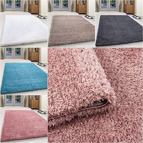 Ayyildiz Shaggy Teppich Hochflor Langflor Flokati 45 mm in Verschidene Farbe und Grüßen Öko Tex Zertifiziert, Farbe:Rosa, Größe:60 x 110 cm