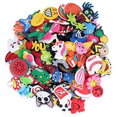 Accesorios crocs pulseras charms 50 piezas diferentes adornos para crocs de dibujos animados para niños regalos para fiestas de cumpleaños decoracion para pulseras y brazaletes