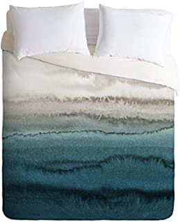 Society6 Monika Strigel Within The Tides-Crashing Waves Teal Comforter Set with Pillowcase(s), King