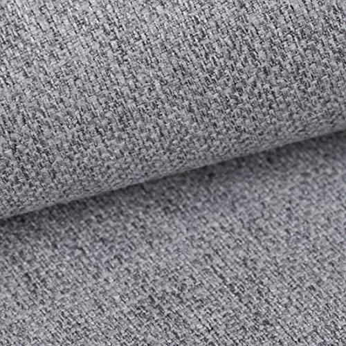 Teker Atena Polsterstoff Möbelstoff Meterware - z.B. Stoff für Stühle oder Eckbank Bezug - Hellgrau