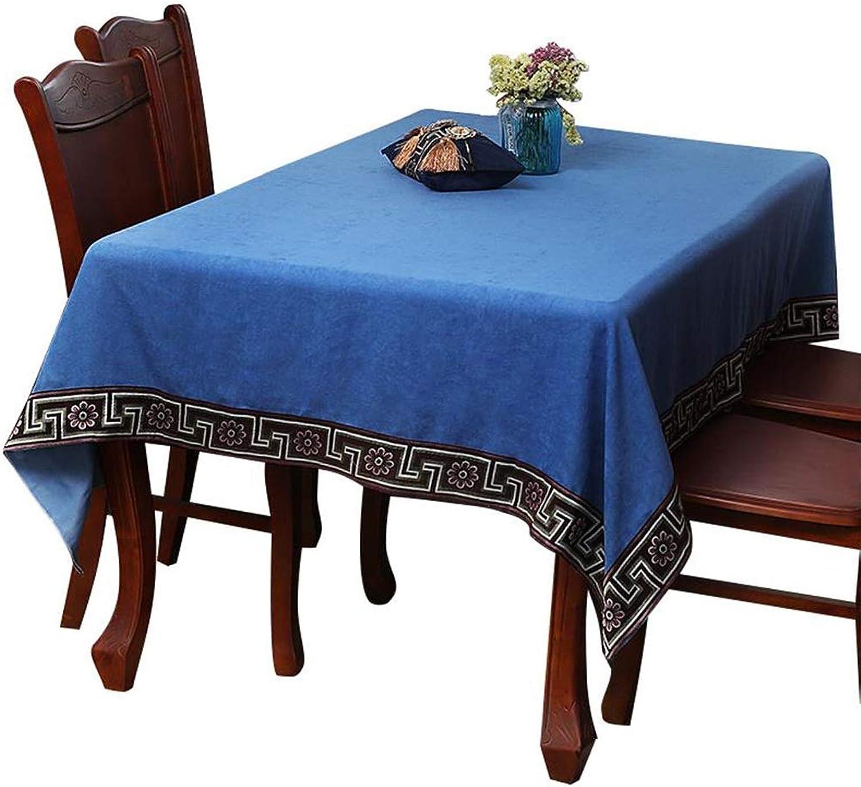 oferta de tienda TIANLONG Zhuobu Mantel Mantel Mantel Mantel Mantel de Madera Maciza de Lujo de Gama Alta casa de Conferencia Rectangular Hotel Mantel (Color   A, Tamao   130x130)  70% de descuento