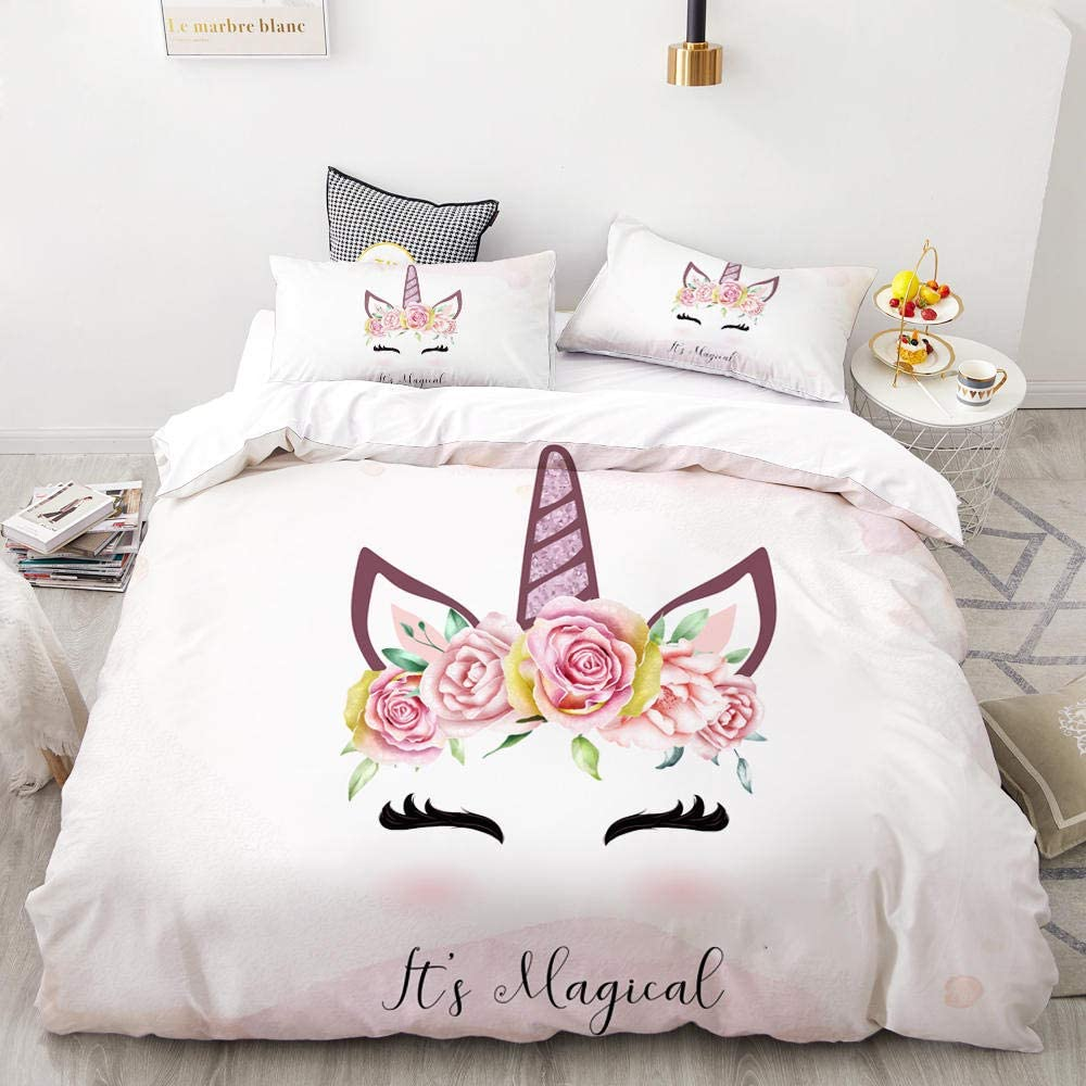 PTBDWOSZ Super New product! New type King Duvet Quilt 3D Cover Set Bedding Pillowcases Dealing full price reduction