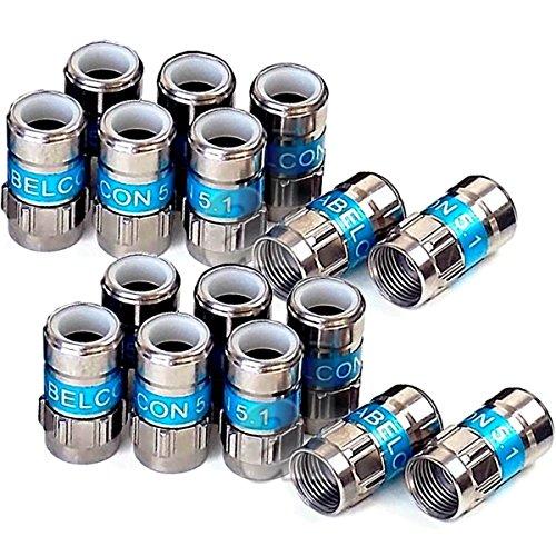 16 Stück Cabelcon F-56 5.1 Self Install F-Kompressionsstecker blau RG6 / 7 mm NiTin